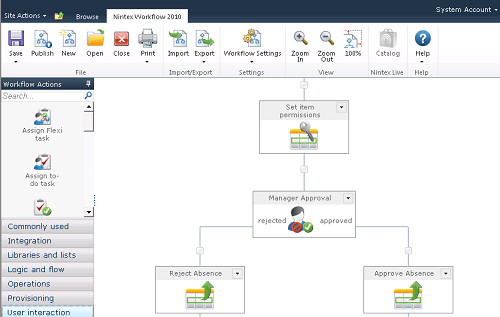 Nintex Workflow Designer for SharePoint