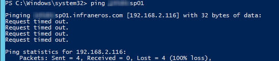 Can't ping the first cache host from our new server. There's something blocking ICMP.
